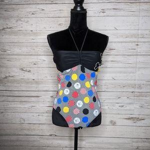 Paul Frank • Retro Vibrant Geometric Swimsuit